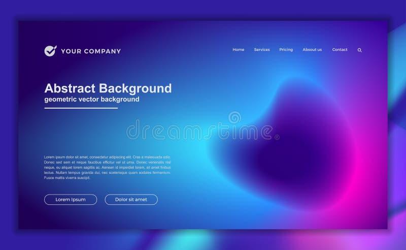 Fondo líquido abstracto de moda para su diseño de aterrizaje de la página Fondo mínimo para los diseños de la página web stock de ilustración