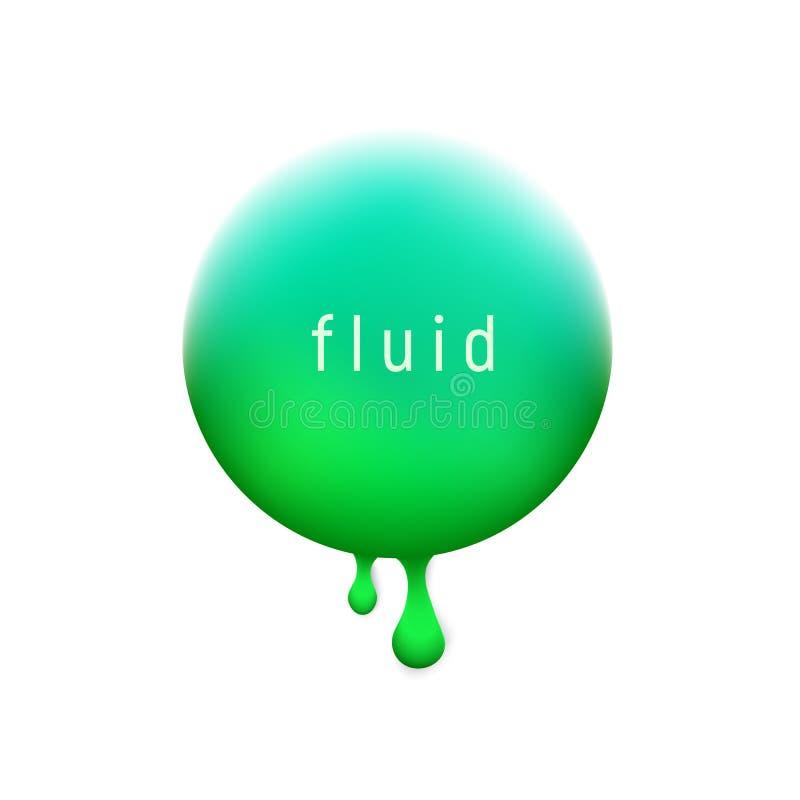 Fondo líquido de moda del círculo del vector con el verde más popular del UFO del color Diseño moderno de moda Líquido coloreado stock de ilustración