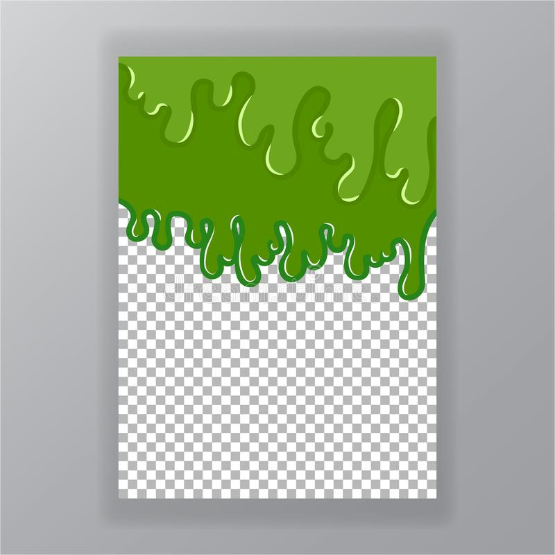 Fondo líquido del verde del extracto del limo ilustración del vector