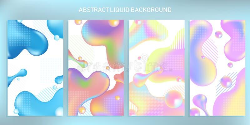 Fondo líquido dinámico gadient de las formas del extracto libre illustration