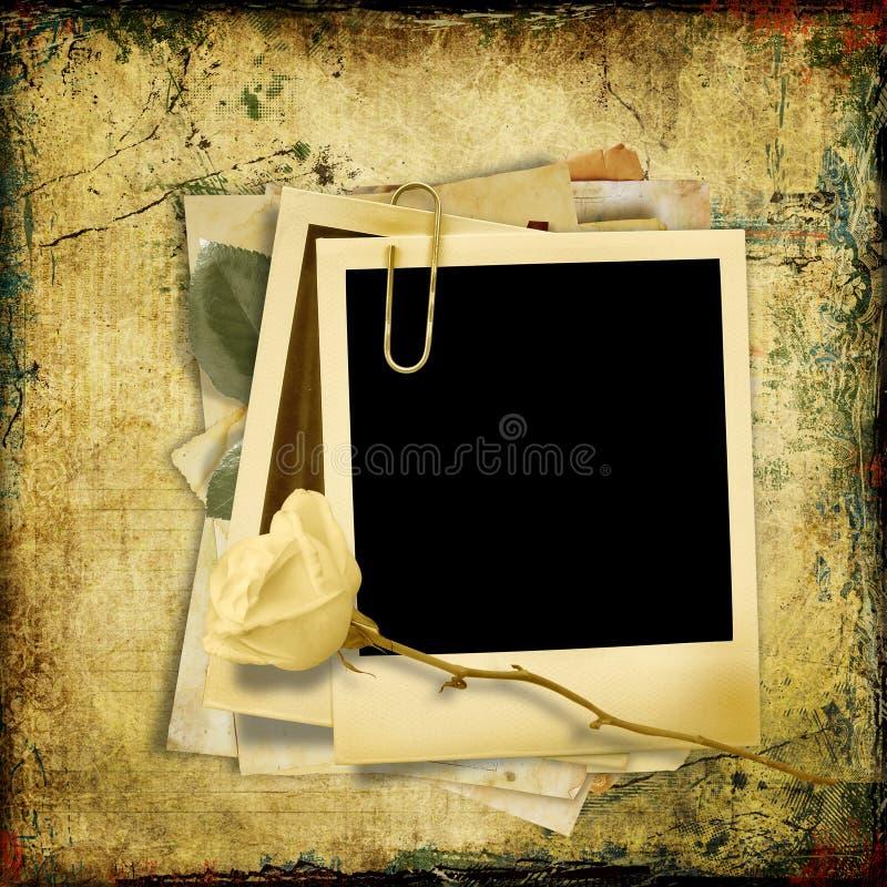 Fondo Lamentable Del Vintage Con El Polaroid-marco Stock de ...