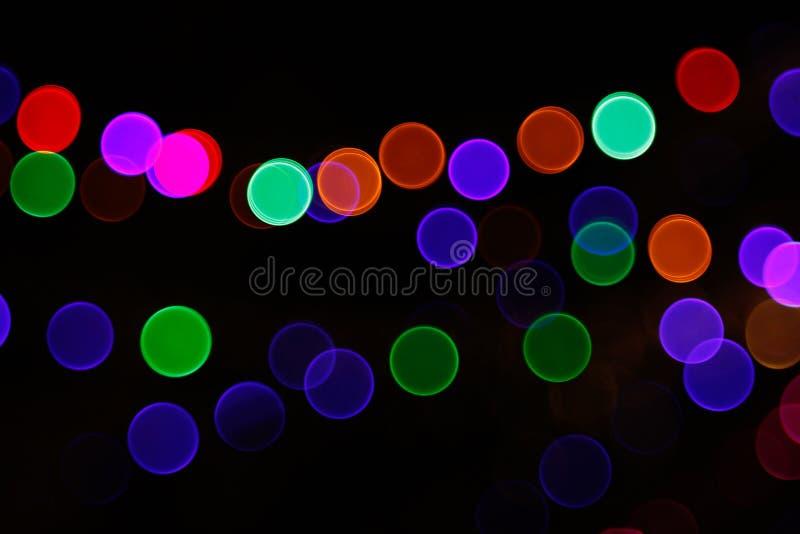 Fondo leggero astratto di Bokeh Immagine della sfuocatura della luce di defocus alla notte illustrazione vettoriale