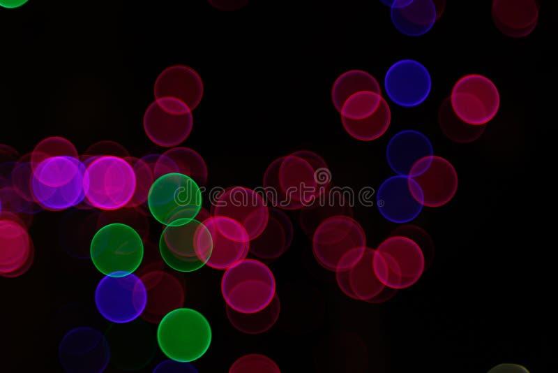 Fondo leggero astratto di Bokeh Immagine della sfuocatura della luce di defocus alla notte illustrazione di stock