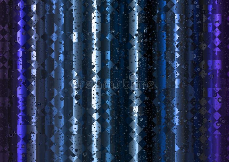 Fondo leggero poligonale blu dell'estratto della tenda fotografie stock
