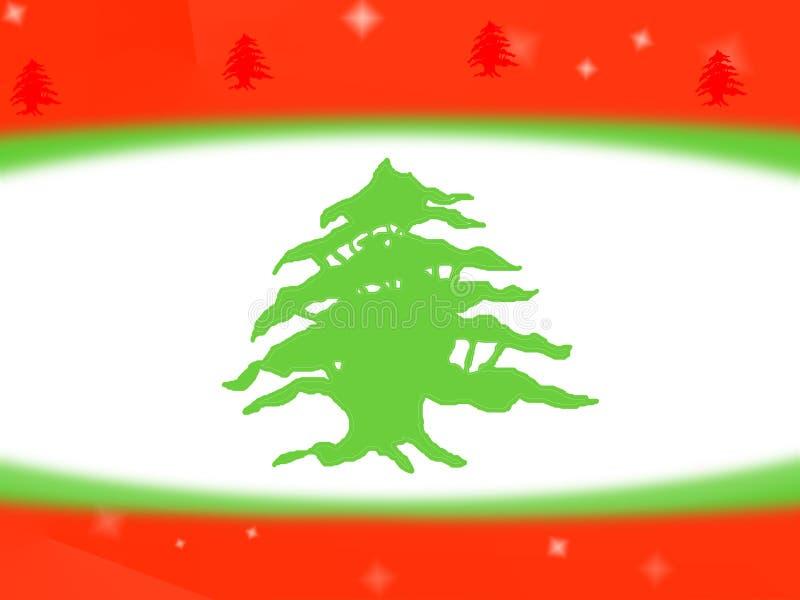Fondo libanés del diseño de la bandera stock de ilustración