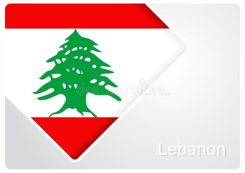 Fondo libanés del diseño de la bandera Ilustración del vector stock de ilustración
