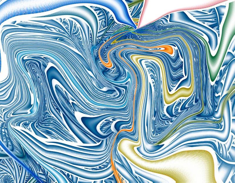 Fondo licuado psicodélico colorido stock de ilustración