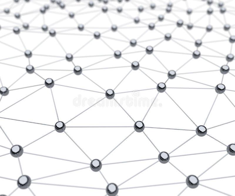 Fondo ligado de la ciencia 3D de la superficie del cromo del átomo libre illustration