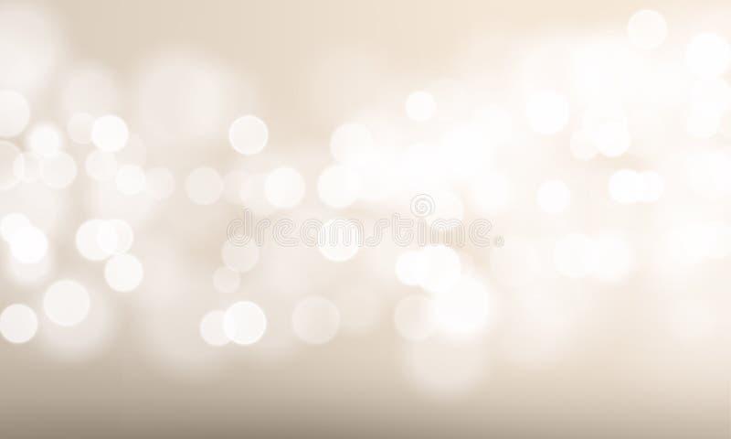 Fondo ligero abstracto de la falta de definición y del efecto del bokeh Resplandor del sol del vector de las luces defocused del  libre illustration