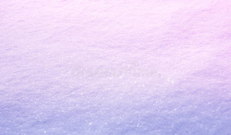 Fondo ligero abstracto de la pendiente Fondo granangular de la nieve del invierno de la naturaleza, foco selectivo Plantilla suav fotografía de archivo libre de regalías