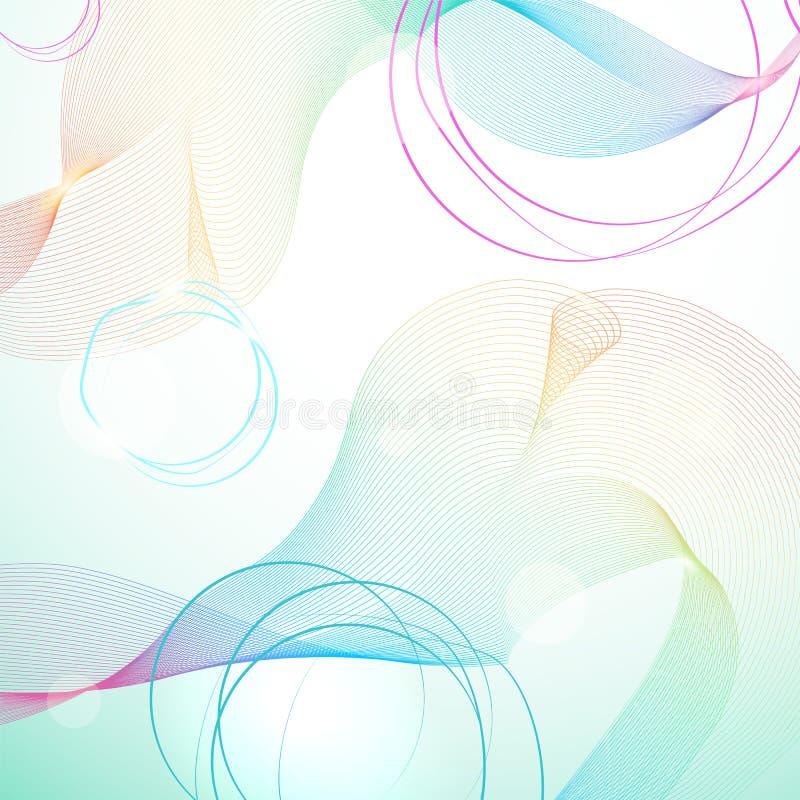Fondo ligero abstracto del guilloquis del arco iris ilustración del vector