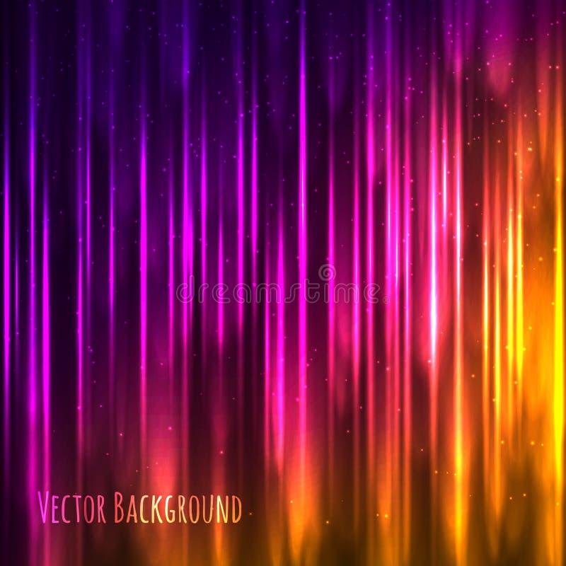 Fondo ligero abstracto del vector con las líneas brillantes ilustración del vector