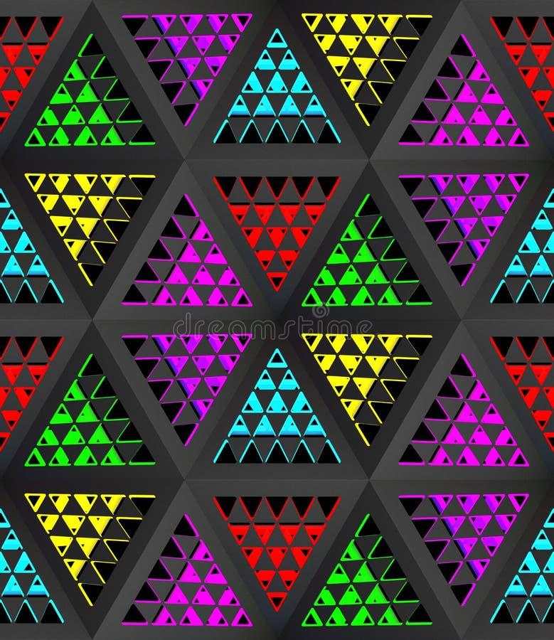 Fondo ligero abstracto estilístico con una estructura geométrica diversa ilustración 3D ilustración del vector