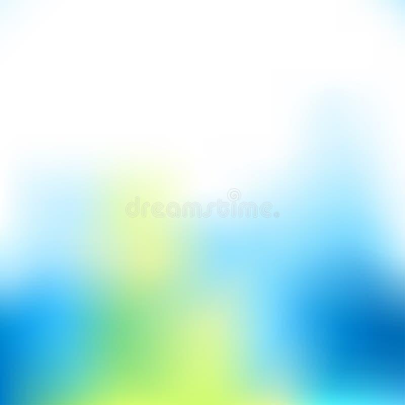 Fondo ligero azul ilustración del vector