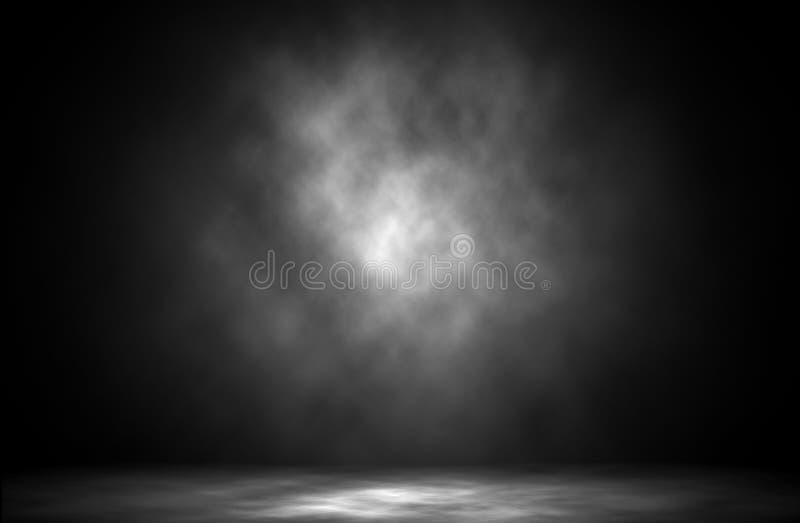Fondo ligero azul del estudio del humo stock de ilustración