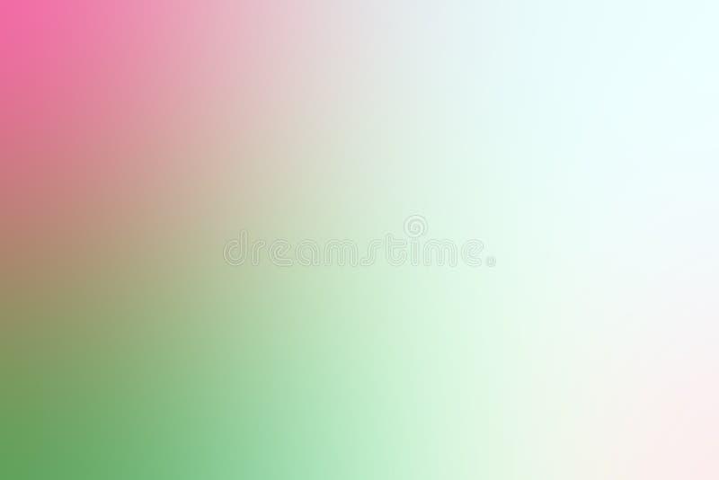 Fondo ligero colorido borroso de la sombra de la pendiente suavemente rosada y verde stock de ilustración