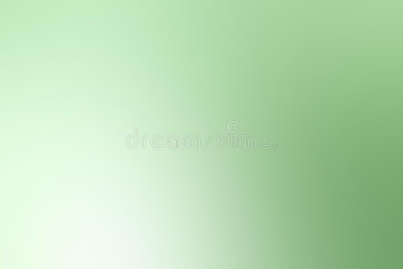 Fondo ligero colorido borroso de la sombra de la pendiente verde suave ilustración del vector