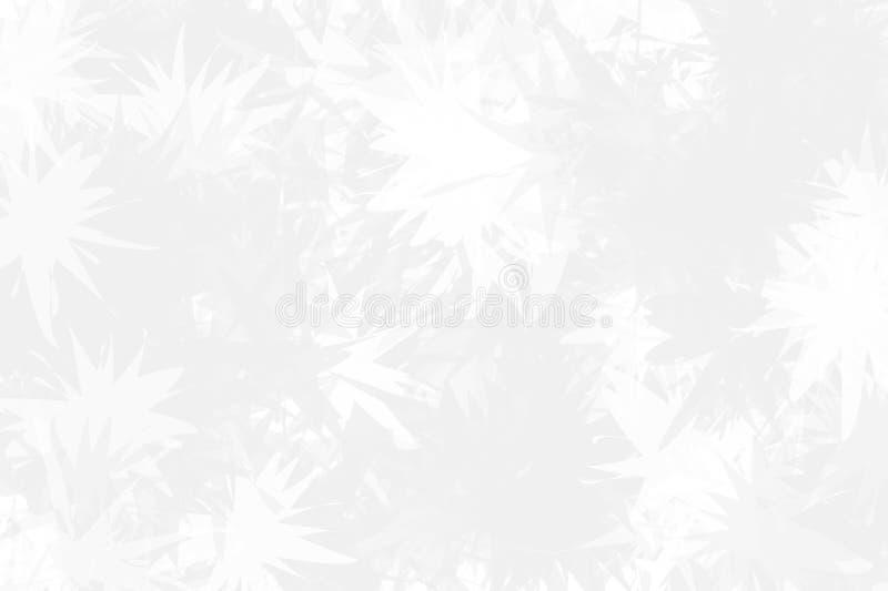 Fondo ligero con los copos de nieve abstractos sobre el vidrio La textura de la superficie congelada Invierno ligero, modelo de l stock de ilustración