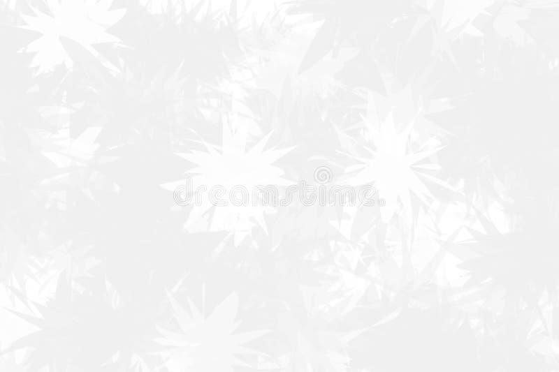 Fondo ligero con los copos de nieve abstractos sobre el vidrio La textura de la superficie congelada Invierno ligero, modelo de l ilustración del vector