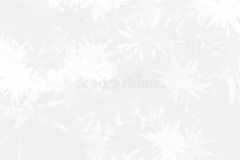 Fondo ligero con los copos de nieve abstractos sobre el vidrio La textura de la superficie congelada Invierno ligero, modelo de l libre illustration