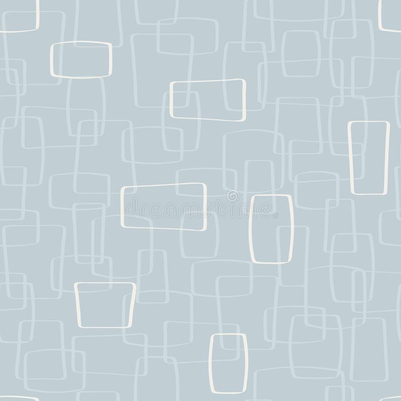 Fondo ligero de Gray Mod Shapes Seamless Pattern del vector libre illustration