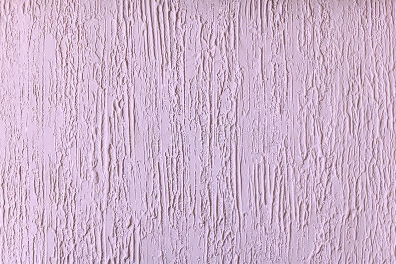 Fondo ligero de la lila - enyesó la pared, para el aislante fotografía de archivo