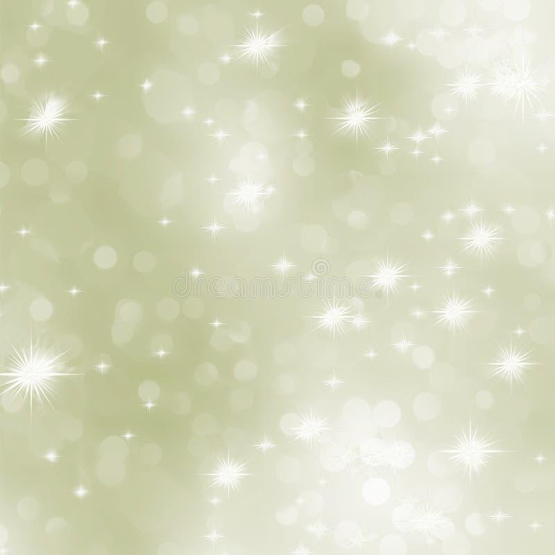 Fondo ligero de la Navidad del extracto del oro. ilustración del vector