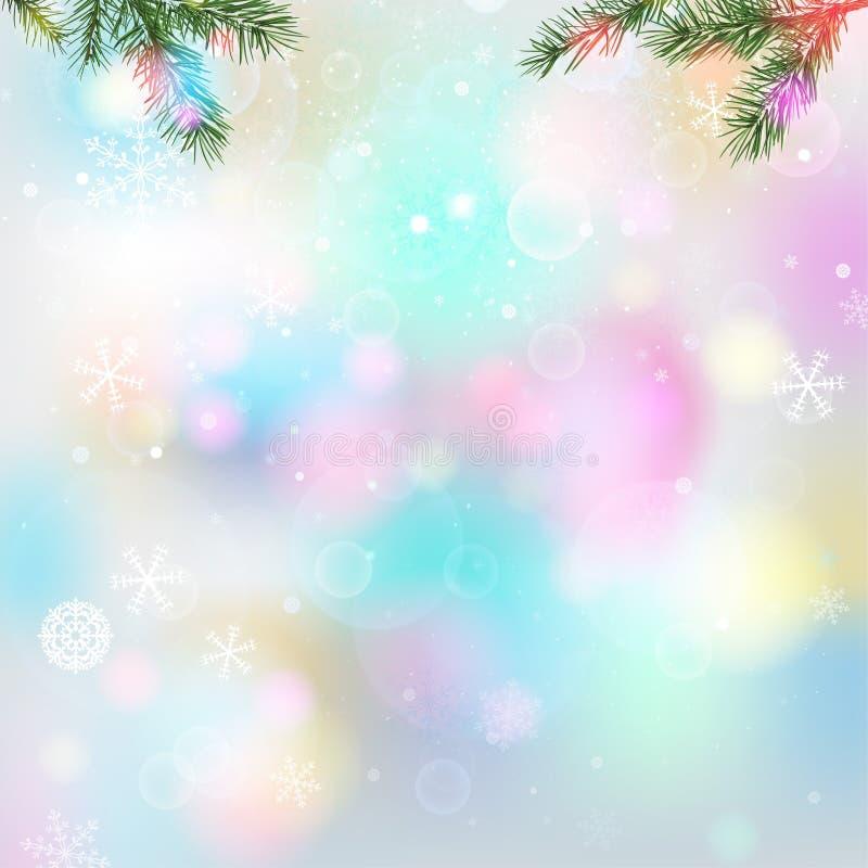 Fondo ligero de los copos de nieve libre illustration