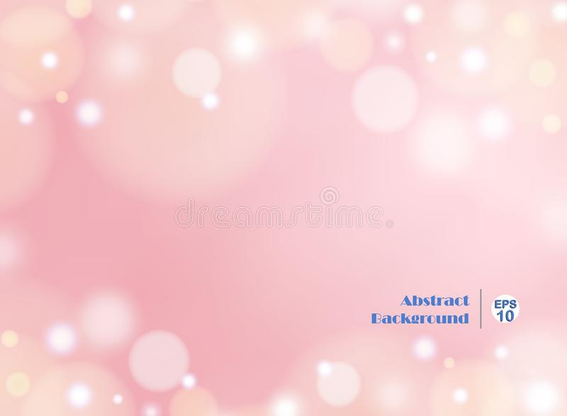 Fondo ligero del rosa de la pendiente con el bokeh redondo ilustración del vector