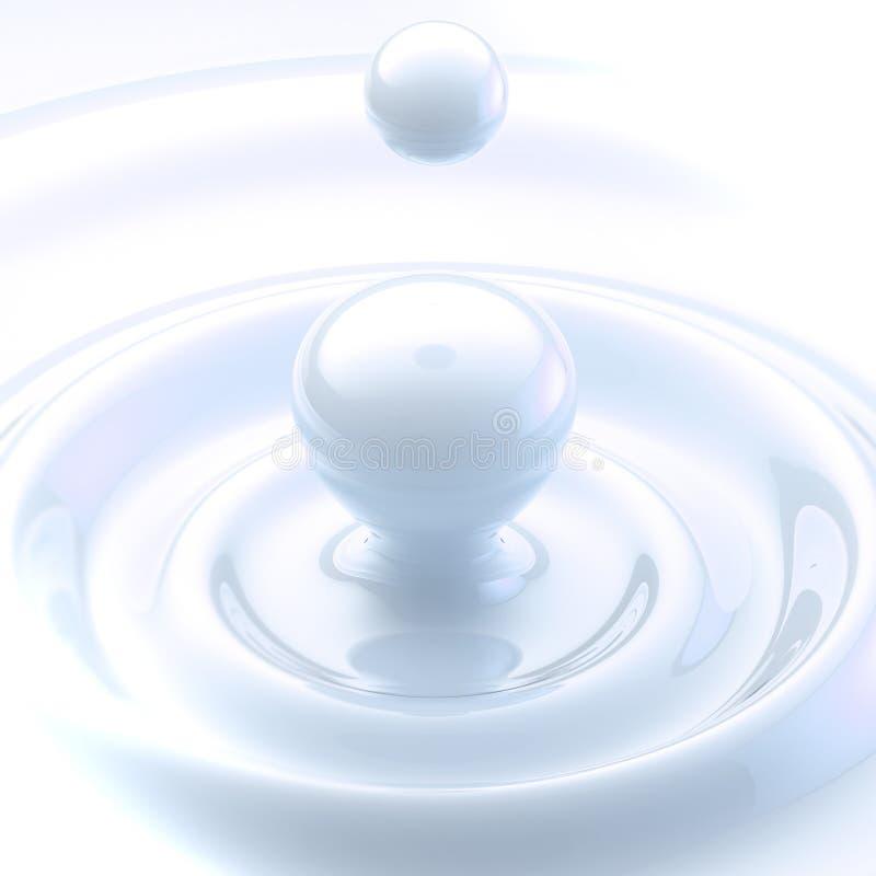 Fondo ligero: descenso líquido poner crema ilustración del vector