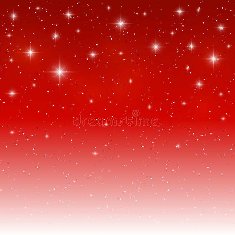 Fondo ligero estrellado en rojo libre illustration