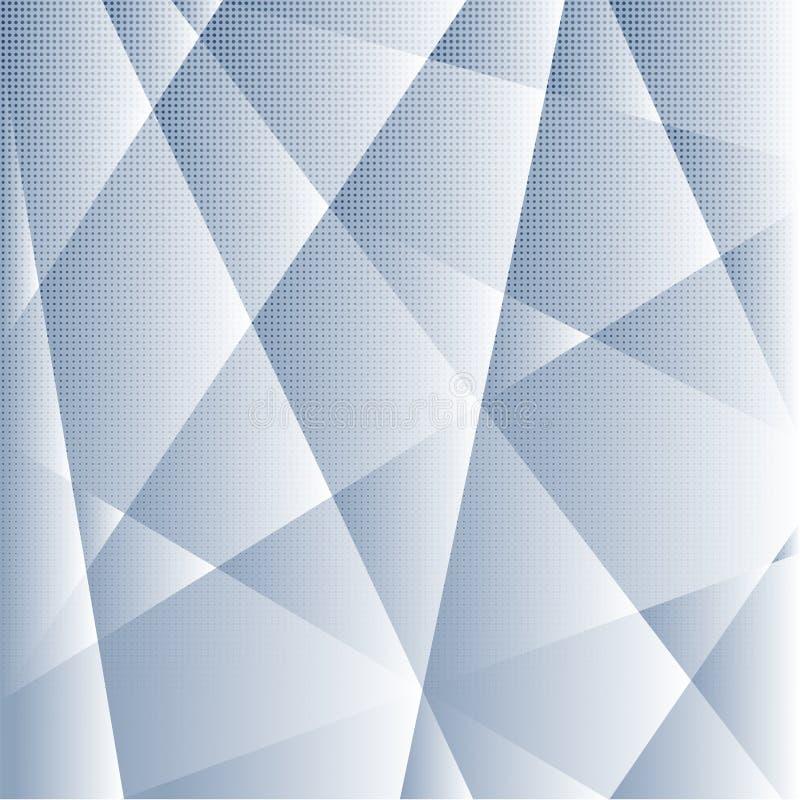Fondo ligero gris geométrico con el modelo de puntos de semitono Contexto del negocio Ilustración del vector stock de ilustración