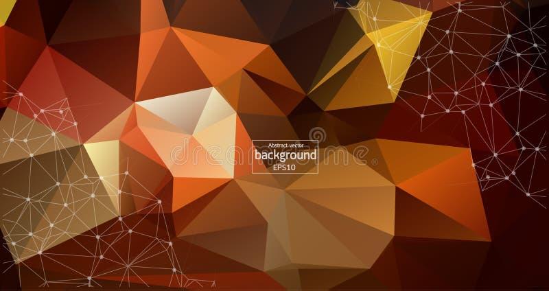 Fondo ligero poligonal del extracto con los puntos y las líneas conectados, estructura de la conexión, fondo futurista del hud, i libre illustration