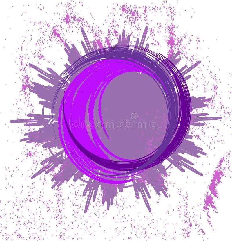 Fondo lilla astratto con l'anello illustrazione di stock