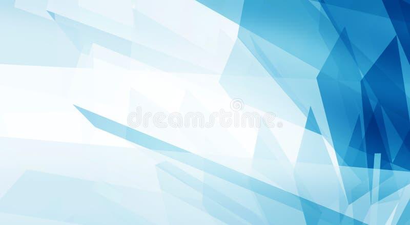 Fondo limpio azul abstracto con el copyspace stock de ilustración