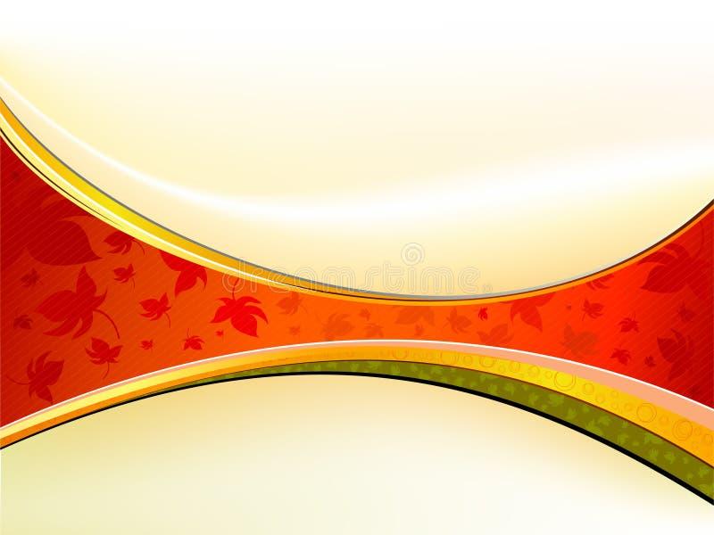 Fondo limpio del diseño del tema del otoño ilustración del vector