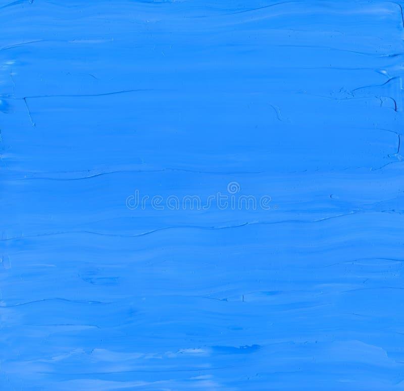 Fondo limpio y sólido azul con textura de la pintura de aceite fotografía de archivo libre de regalías
