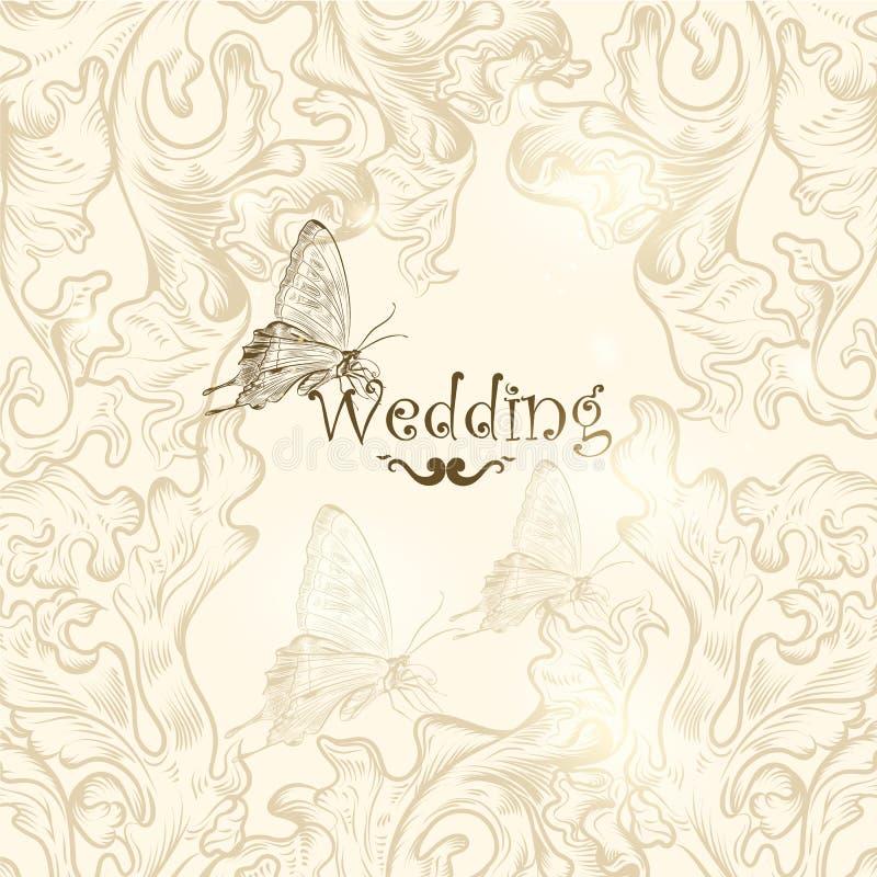 Fondo lindo de la boda para el diseño libre illustration