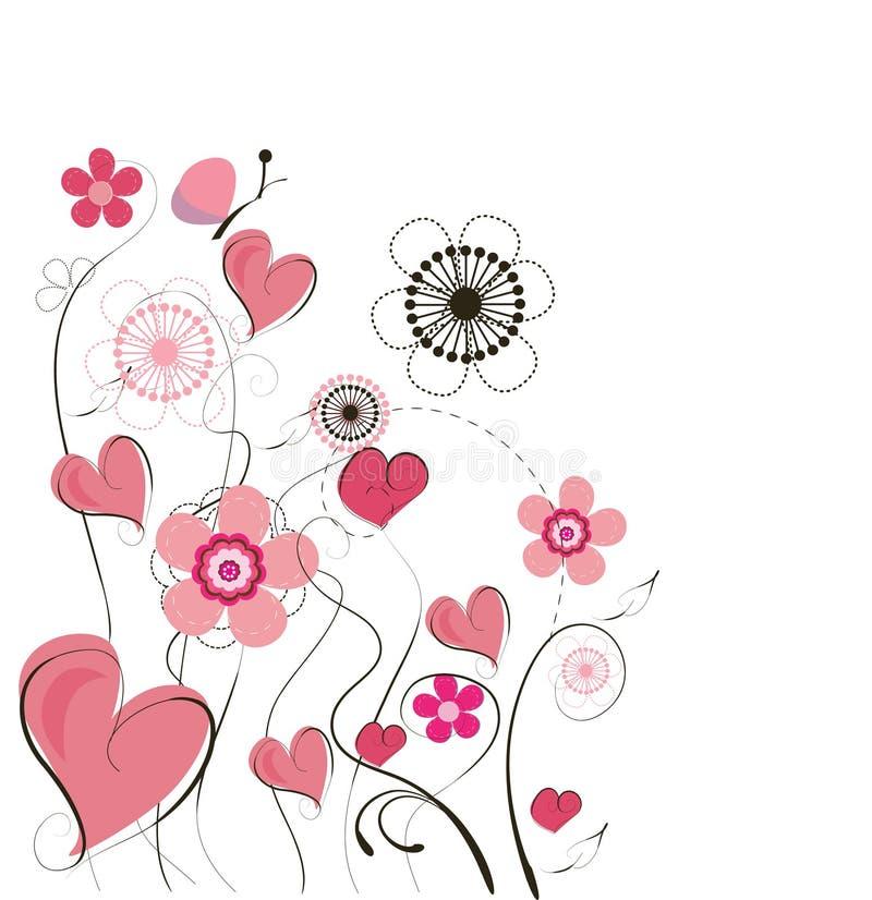 Fondo lindo de la tarjeta del día de San Valentín ilustración del vector