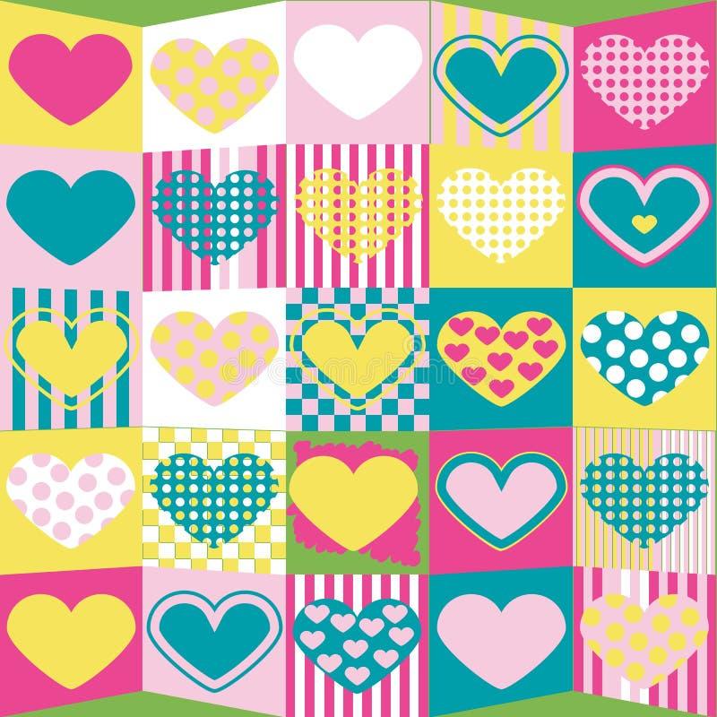 Fondo lindo de la tarjeta del día de San Valentín stock de ilustración