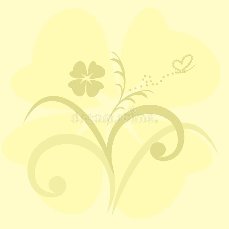 Fondo lindo de las flores para el diseño para la invitación stock de ilustración
