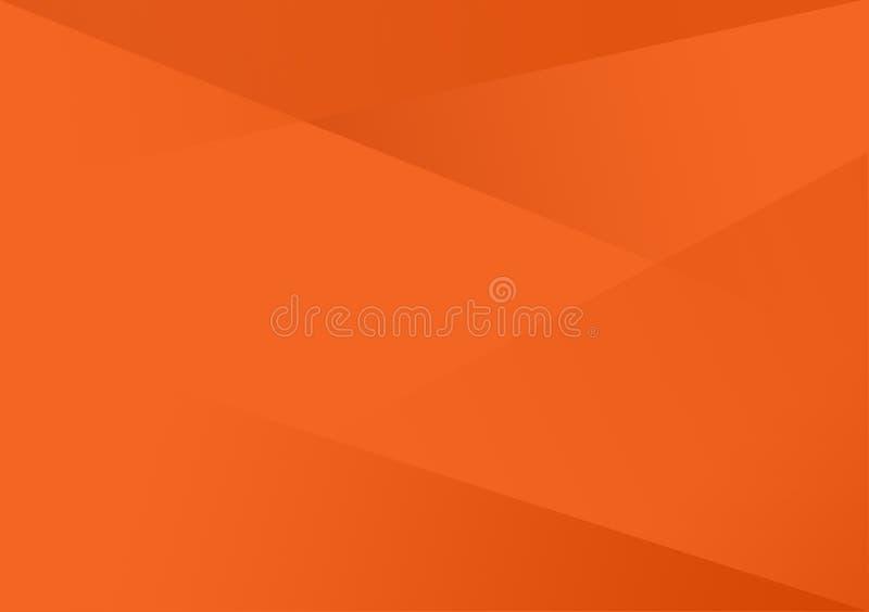 Fondo linear anaranjado de la pendiente del fondo de la forma ilustración del vector