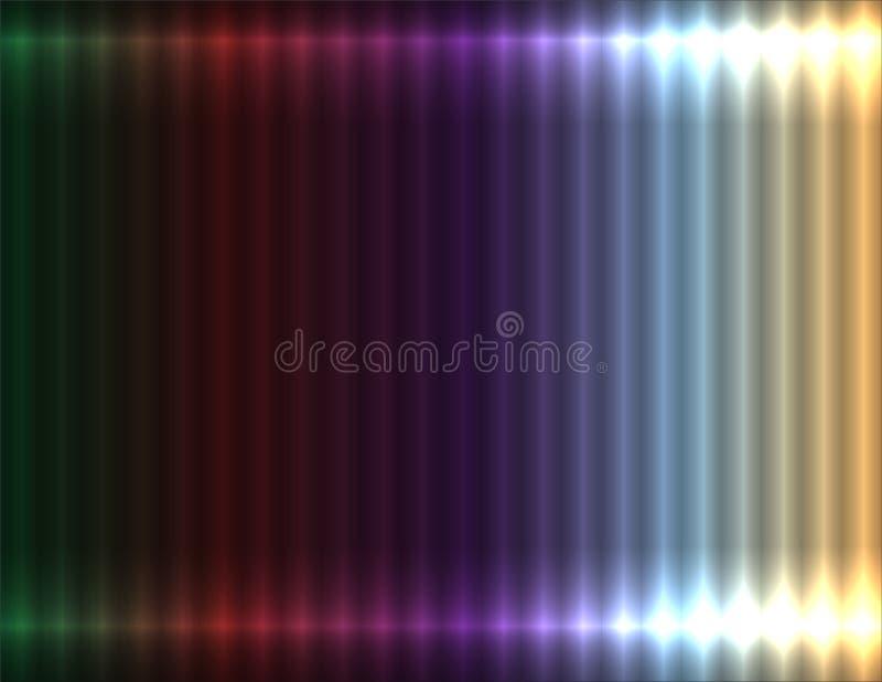 Fondo linear de la pendiente en colores pastel multicolora, efecto de neón ilustración del vector
