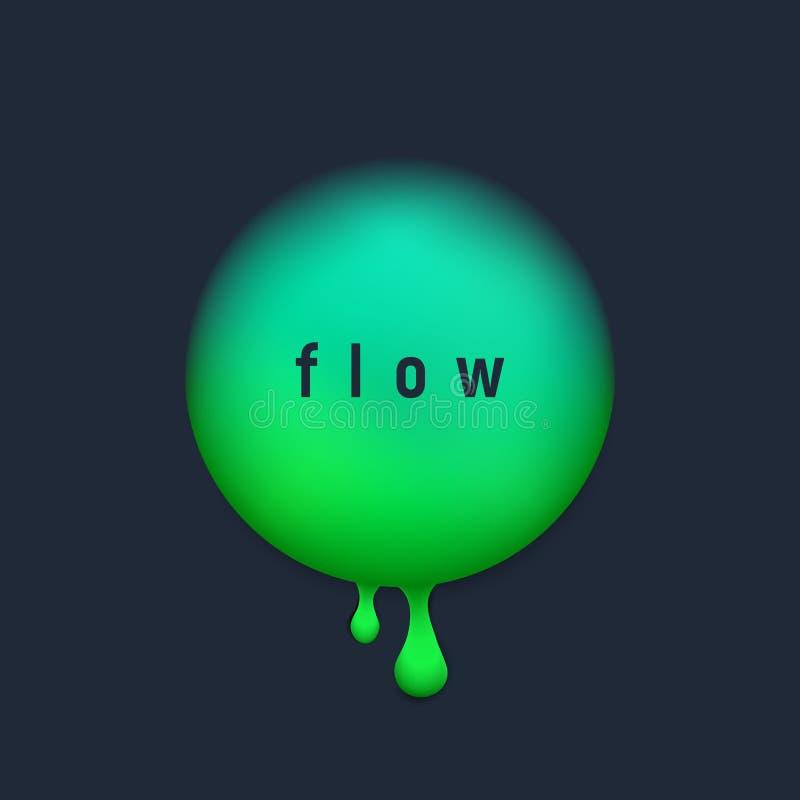 Fondo liquido d'avanguardia del cerchio di vettore con il verde del UFO di colore più popolare Progettazione moderna d'avanguardi royalty illustrazione gratis