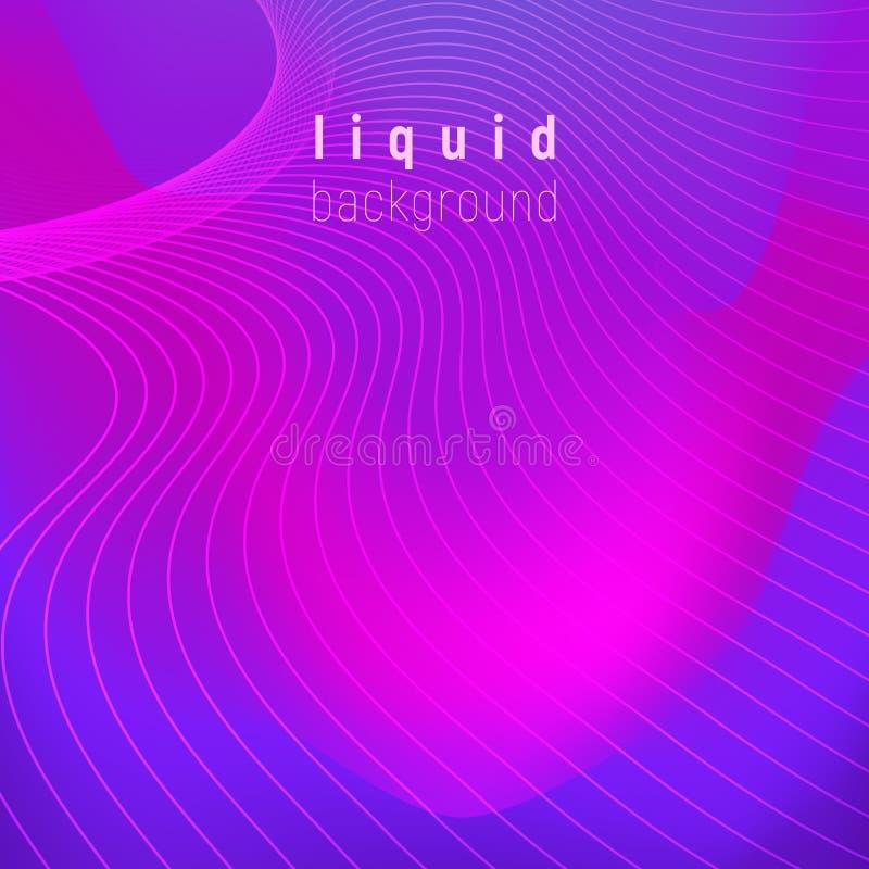 Fondo liquido d'avanguardia di colori di vettore con la porpora del protone di colore più popolare Progettazione moderna d'avangu royalty illustrazione gratis