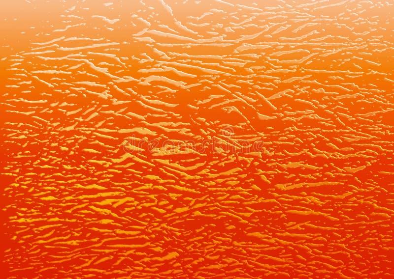 Fondo liquido fuso arancio illustrazione vettoriale