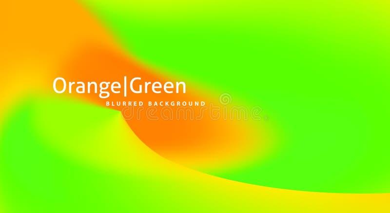 Fondo liso con pendiente de la naranja a verde claro Gr?ficos de vector ilustración del vector