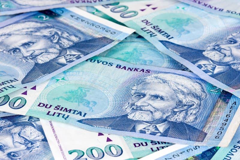 Fondo lituano del dinero en circulación fotografía de archivo libre de regalías