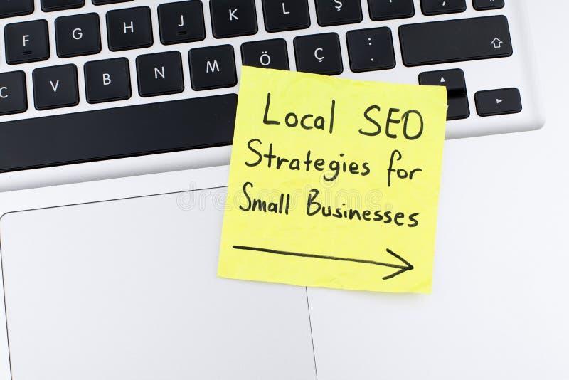 Fondo locale di concetto di ottimizzazione del motore di ricerca di strategia di seo fotografie stock