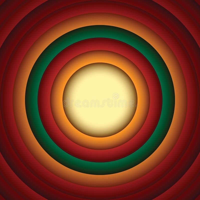 Fondo Looney del extracto del círculo del estilo de los tonos ilustración del vector